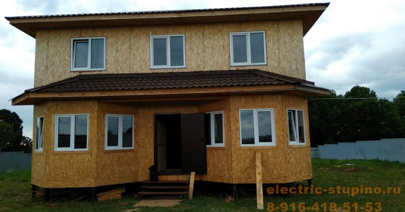 Монтаж электропроводки на даче