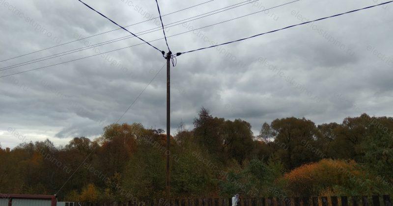 Подключение дома к электричеству 220В в д. Нефедьево