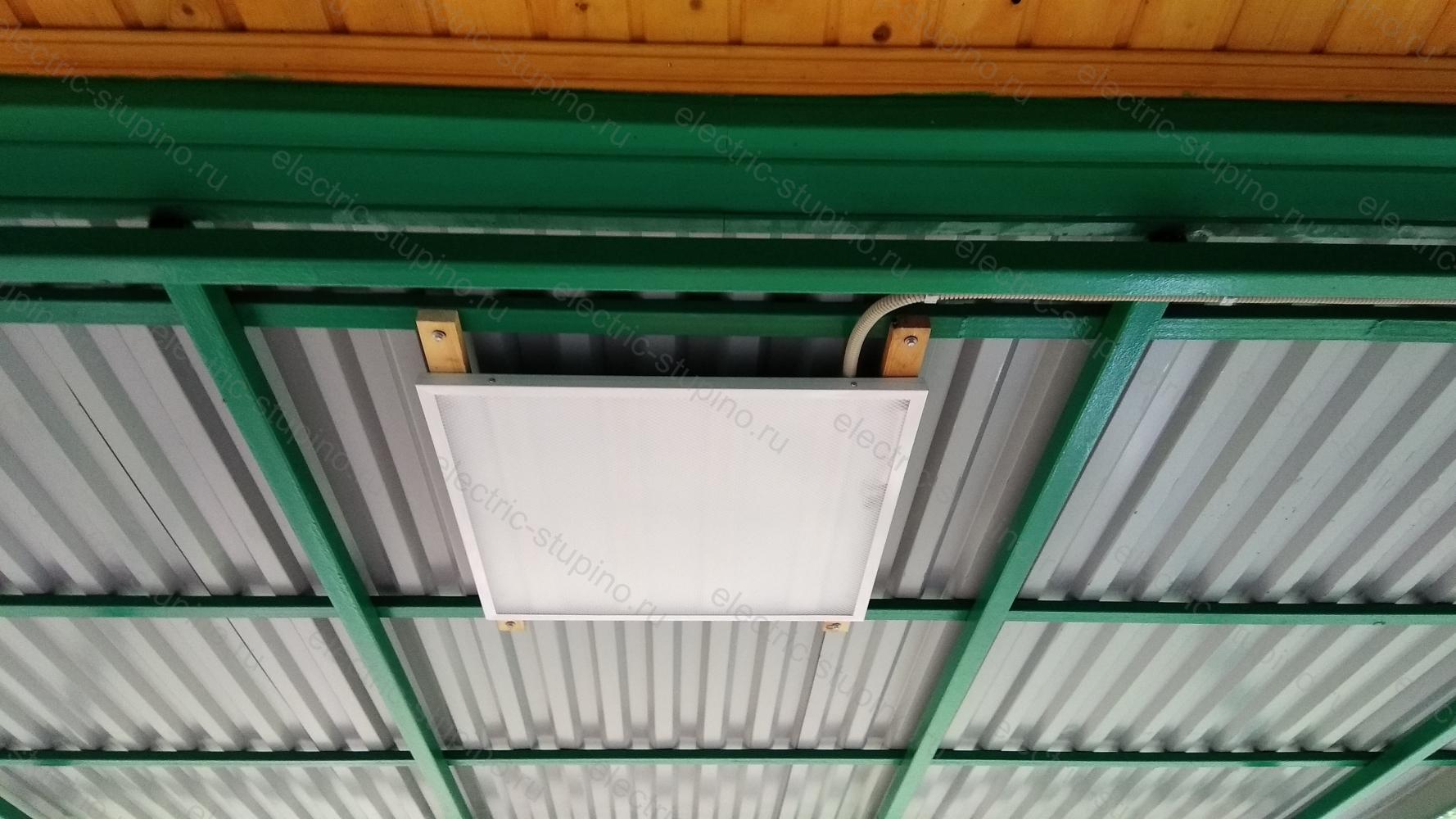 Установка светодиодных светильников на даче