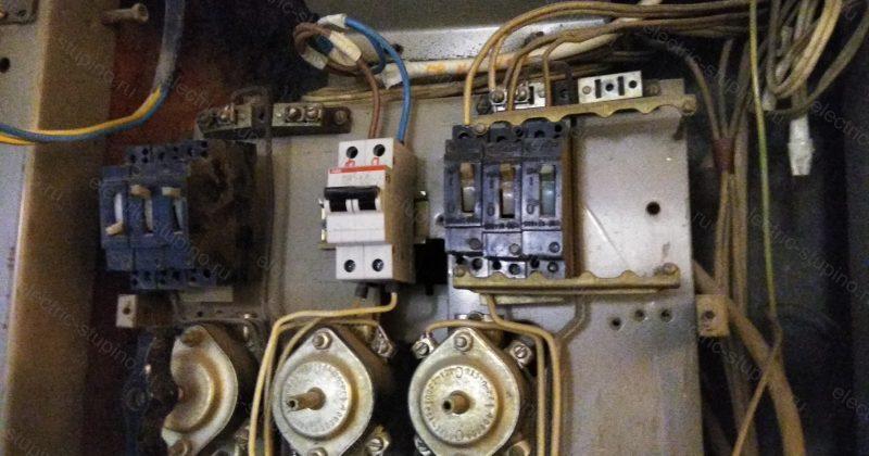 Замена автоматов в этажном щитке